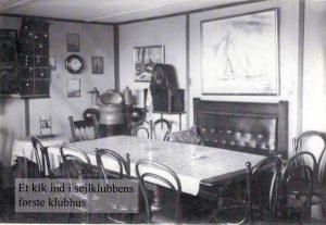 Kig i Sejlklubbens første klubhus på vesthavnen